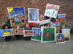 Réalisation de différents tableaux qui illustrent la vie des gens au Moyen-Age en lien avec le millénaire de l'Eglise de Tourinnes-le-Grosse